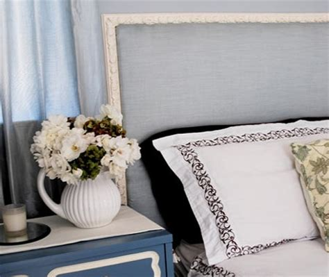 diy french headboard home dzine bedrooms framed headboard