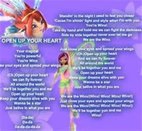 heart pattern lyrics english 1000 images about winx lyrics on pinterest winx club