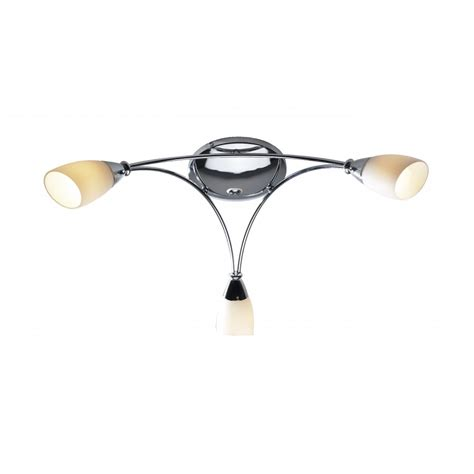 modern shiny chrome ceiling light for low ceilings opal