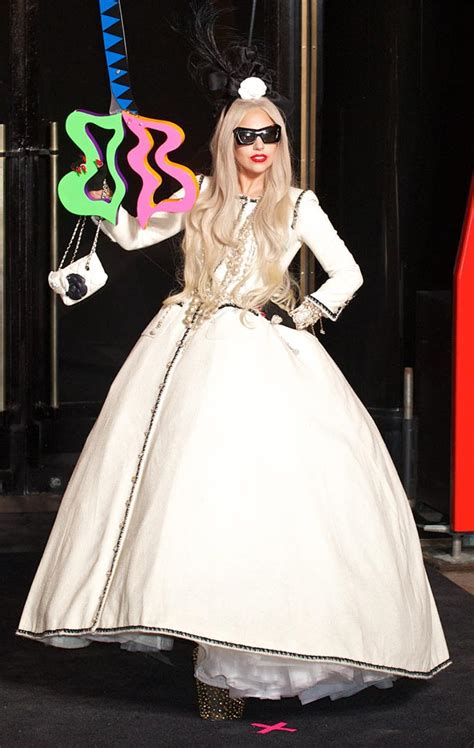 Gaga Wardrobe by Gaga Suffers Daring Wardrobe With Split
