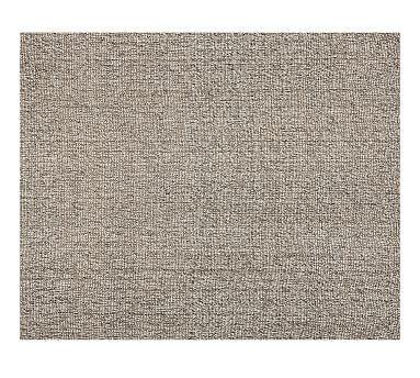 chunky wool jute rug gray pottery barn