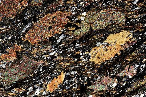 mica in thin section mica schist thin section polarised lm photograph by pasieka
