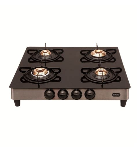 four stove signoracare 7 mm plus glass top four 4 burner gas stove by signoracare gas