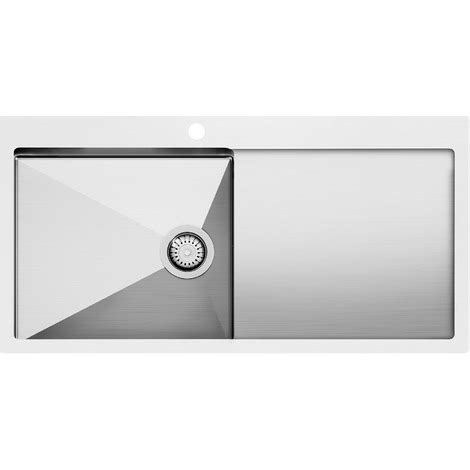 Evier Inox 1 Bac 3697 by Evier Inox 1 Bac Avec 233 Gouttoir 101m