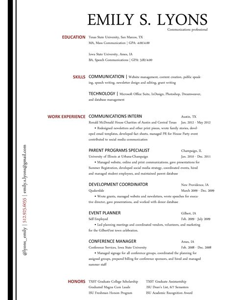 Communication On A Resume by The Communications Resume Blossoming Communications
