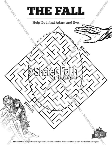 Genesis 3 Coloring Page by The Fall Of Genesis 3 Bible Story Bible