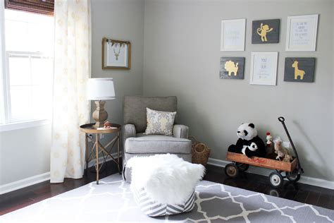 gray and gold gray gold gender neutral nursery reveal erin spain