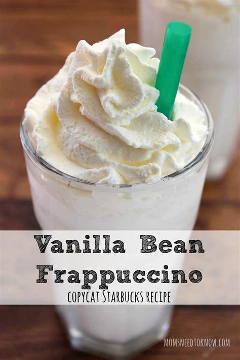 Starbucks Vanilla Frapuccino Coffe vanilla bean frappuccino starbucks vanilla frappuccino and copycat
