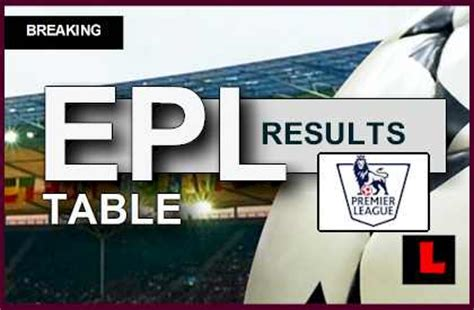 epl results live epl table 2014 results today prompt updated scores rankings