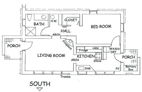solar adobe house plan 877 cottage solaradobe houseplans