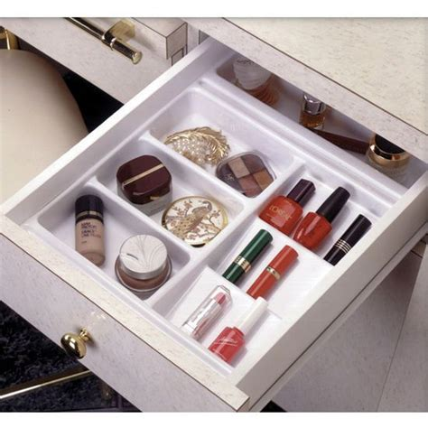 Drawer Organizers For Makeup by Rev A Shelf Vanity Cosmetic Drawer Organizer Base Trays