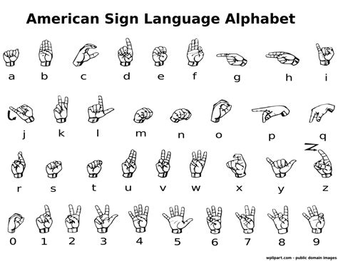 printable numbers in sign language asl alphabet label miscellaneous media pinterest