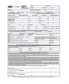 Credit Application Form Lease 9 Business Credit Application Form Free Sle Exle Format
