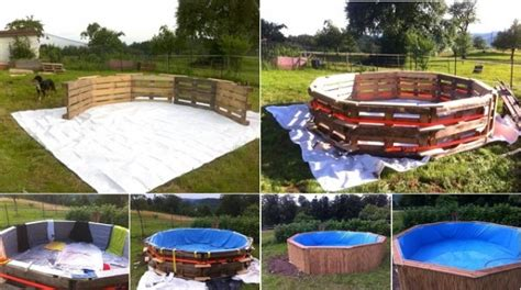 diy backyard pool how to make diy pallet swimming pool how to instructions