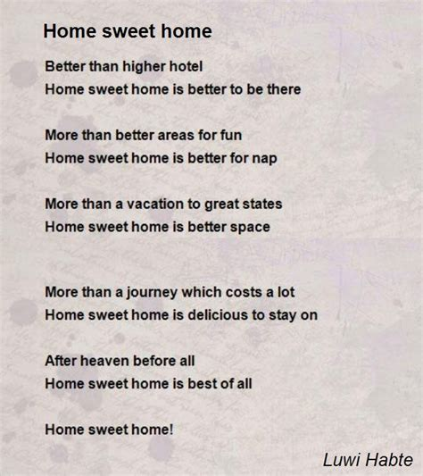 home sweet home poem by luwi habte poem comments