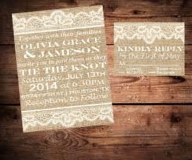 handmade burlap and lace wedding invitations diy baby s breath burlap lace wedding ideas