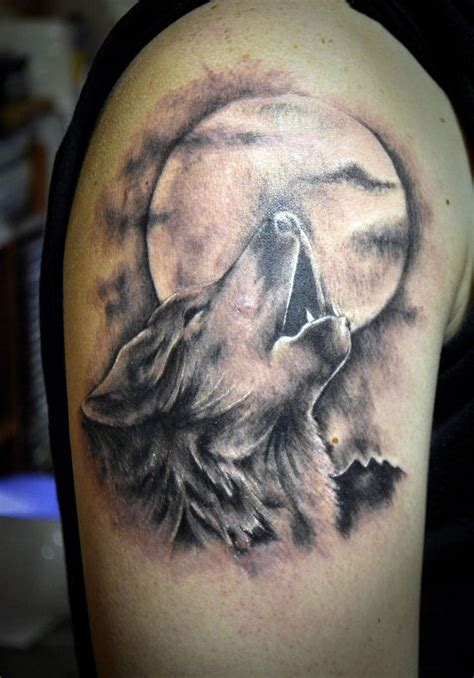 wolf and moon tattoo 30 moon tattoos ideas