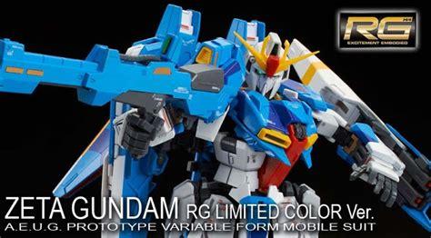 Rg Zeta Gundam Limited Color Premium Bandai gundam news rg zeta gundam rg limited color ver official images robot pilipinas