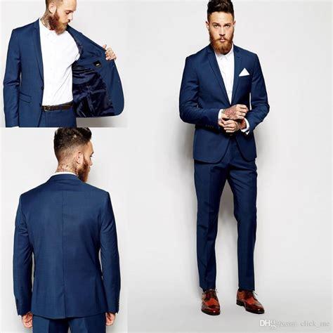 setelan royal greyles custom made groom tuxedos groomsmen blue vent slim