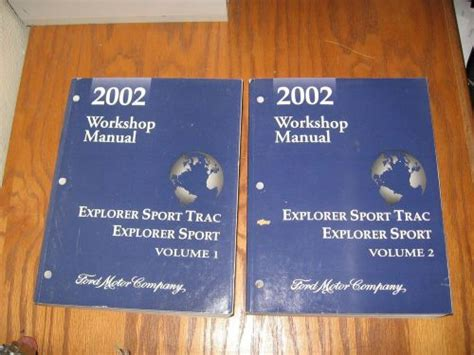 vehicle repair manual 2002 ford explorer sport trac windshield wipe control sell 2002 ford explorer sport trac factory shop service manual set of 2 motorcycle in co usa
