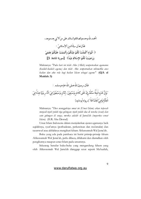 Aqidah Syari aqidah ahlus sunnah karya hadratush syaikh hasyim asyari
