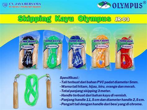Murah Alat Kesehatan Olahraga Iron Alat Lompat Tali Skiping Speed skipping kayu olympus jr 03 wood jump rope distributor alat olahraga