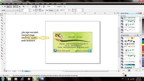 membuat kartu nama anak sd cara membuat kartu nama dengan coreldraw renny damayanti