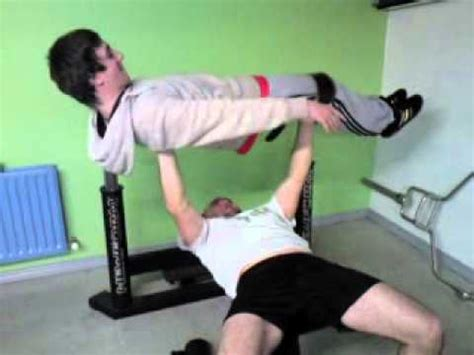 man benching people youtube