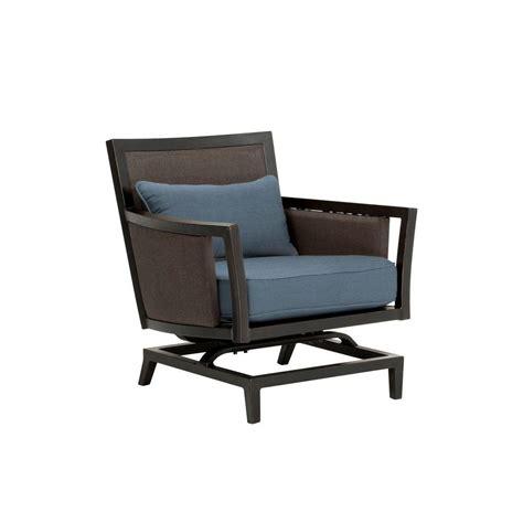 brown jordan greystone patio motion lounge chair  denim