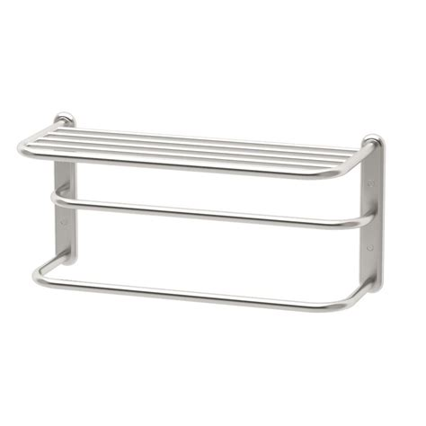gatco towel rack in satin nickel 1541sn the home depot
