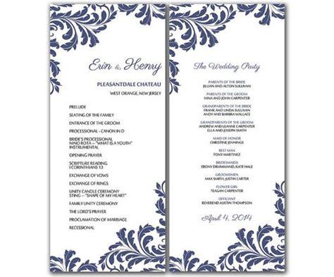 free wedding program templates word best business template