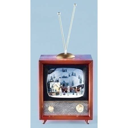 retro tv music boxes amusements retro tv town with animated light up box walmart