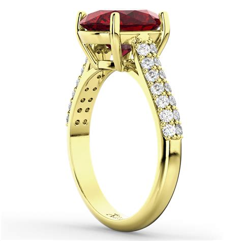Yellow Saphire Yakud 42ct oval ruby engagement ring 14k yellow gold 4 42ct allurez