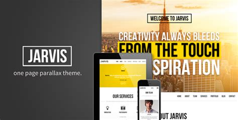 themeforest jarvis themeforest jarvis onepage parallax theme download