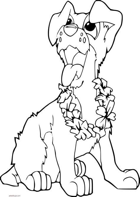 imagenes para colorear prevencion de accidentes dibujos de perros para colorear