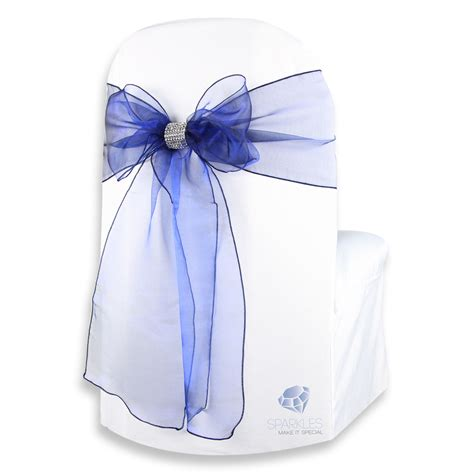 chair covers with bows 50 pcs organza chair cover bow sash 108 quot x8 quot wedding