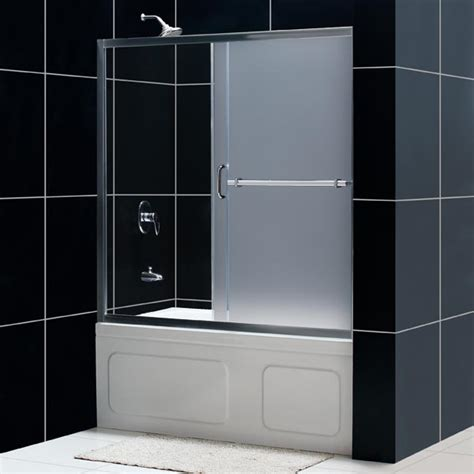 sliding bathtub shower doors dreamline showers infinity plus sliding shower door