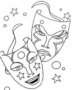 Desenho De M&225scara Teatro Para Colorir  Tudodesenhos sketch template