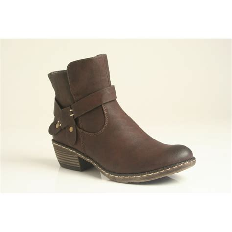 brown ankle boots rieker brown ankle boot with zip and fleece lining