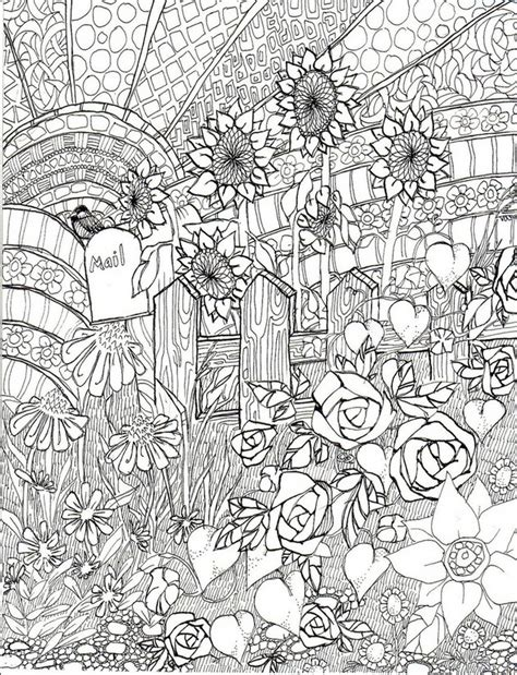 detailed coloring books for adults coloring page summer sunflowers 2