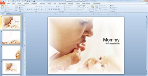template ppt baby free baby mommy powerpoint templates powerpoint presentation