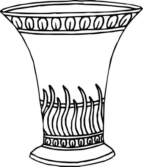 Greek Vase Outline Clipart Vase 16 Line Drawing