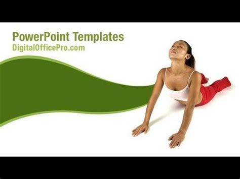 powerpoint templates yoga yoga pose powerpoint template backgrounds