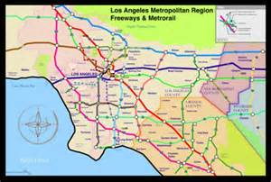 map of freeways in los angeles images