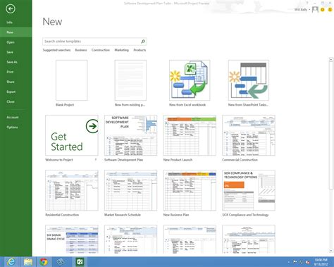 ms project templates 2010 microsoft project professional 2013 new features preview