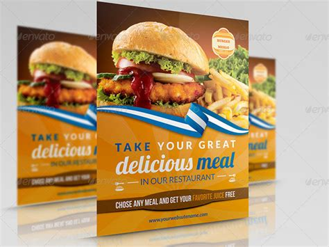free templates for restaurant flyers 20 delicious looking restaurant flyer templates
