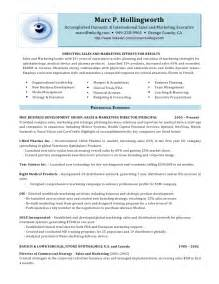 Sle Of Marketing Resume by Marc Hollingworth Director Of Sales And Marketing Resume M