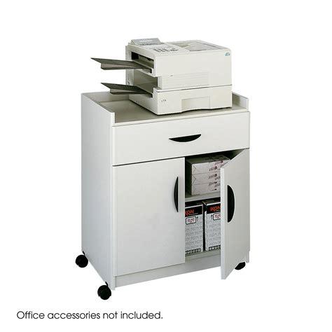 safco deluxe mobile printer stand