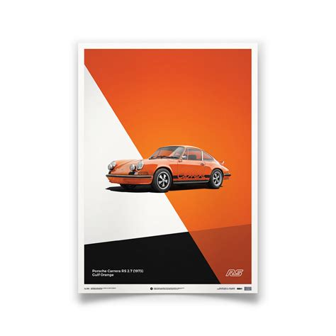 Porsche Poster by Porsche 911 Rs Poster Orange Automobilist