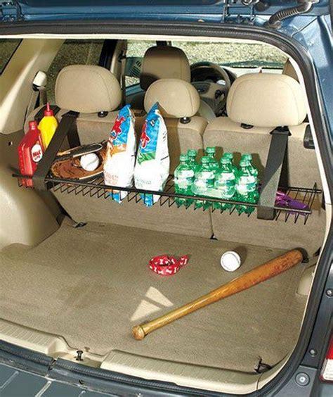 pin  ashley parker creative  organizing storage car storage van organization creative